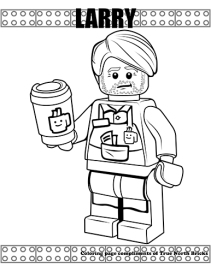 Larry coloring page