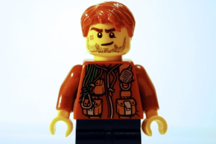 This is the Minifigure photo that turned into Bruce Willis in my LEGO-fied Armageddon poster.