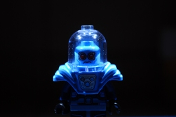 The LEGO Mr. Freeze that I used in my LEGO-fied poster.