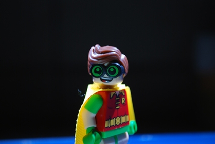 The LEGO Robin that I used in my LEGO-fied poster.