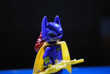 The LEGO Batgirl that I used in my LEGO-fied poster.