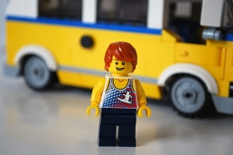 LEGO Sunshine Surfer Van male Minifigure front view.