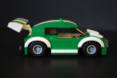 Side view of the LEGO car I made for my LEGO-fied Fast & Furious poster.