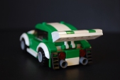 Rear view of the LEGO car I made for my LEGO-fied Fast & Furious poster.