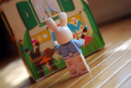 Rear view of the LEGO Easter Bunny Minifigure.