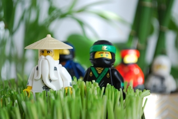 One of my attempts to catch the full Ninjago team in one shot.
