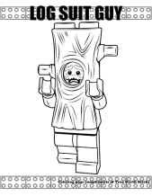 Log suit guy coloring page.