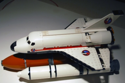 LEGO's Spaceport shuttle that I used in my LEGO-fied Armageddon poster.