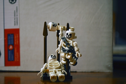 LEGO Skeletons used in my Prince of Persia poster.
