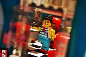 Milkshakes at LEGO's Downtown Diner.