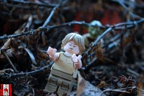LEGO Luke feeling the force.