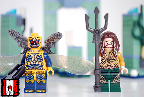 Front view of parademon and Aquaman.