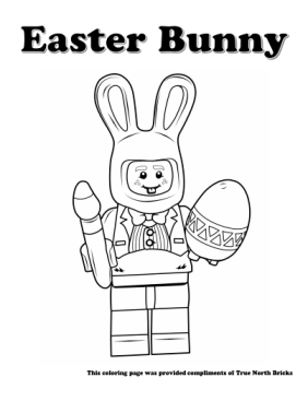 Easter Bunny coloring page.