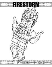Firestorm coloring page.