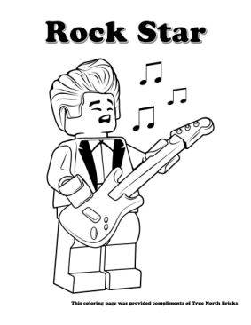 Rock Star coloring page.