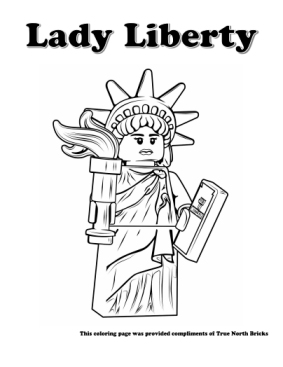 Statue of Liberty coloring page.