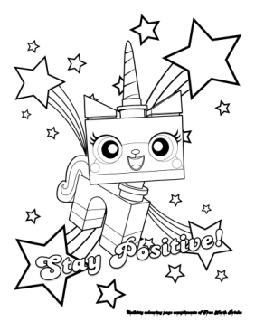 Unikitty coloring page.