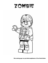 Zombie coloring page.