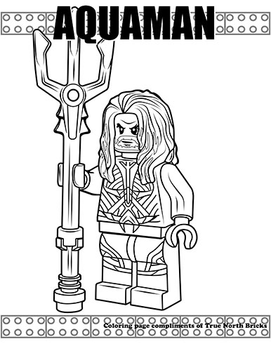 Coloring Page Aquaman True