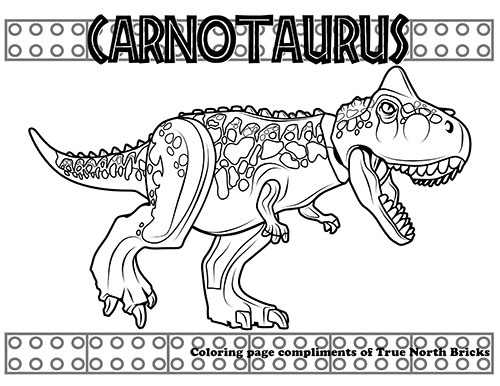 Coloring Page Carnotaurus True North Bricks