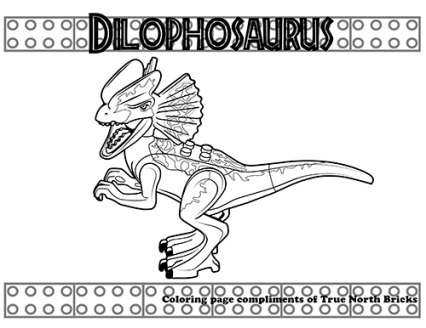 Dilophosaurus coloring page