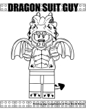 Dragon Suit Guy coloring page