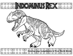Indominus rex coloring page
