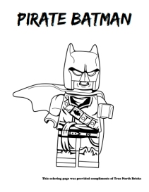 Pirate Batman coloring page
