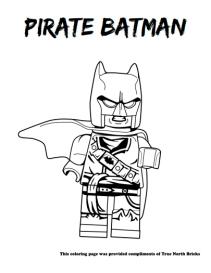 Pirate Batman coloring page