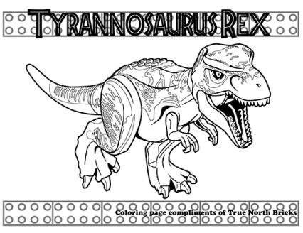 T. rex coloring page