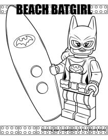 Beach Batgirl coloring page.