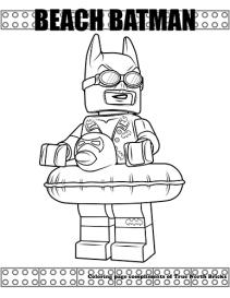 Beach Batman coloring page