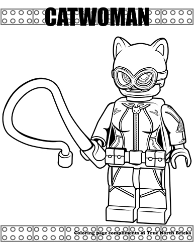 Free LEGO Catwoman Coloring Page