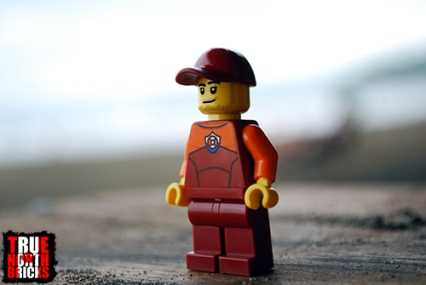 Front view of male coast guard officer from the Coast Guard Starter Set.