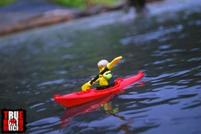 Ocean kayaking. Photo taken in one of the many stream that empty from the jungle into the ocean on Playa Negra in Costa Rica.