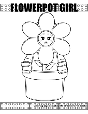 Flowerpot Girl coloring page