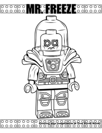 Mr. Freeze coloring page