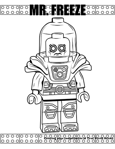 Coloring Page Mr Freeze True North Bricks