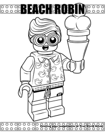 Beach Robin coloring page