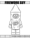 Firework Guy coloring page