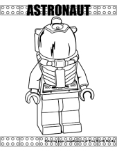 Astronaut coloring page.