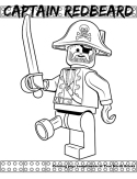 Captain Redbeard coloring page