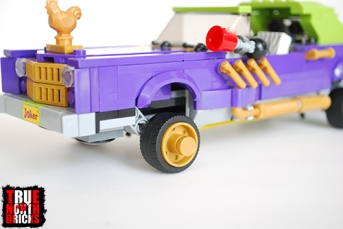 Suspension design on Joker's Notorious Lowrider.