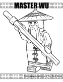 Master Wu coloring page