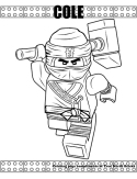 Ninja Cole coloring page