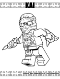 Ninja Kai from TV coloring page