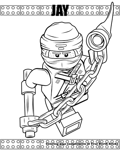 Coloring Page Ninja Jay True