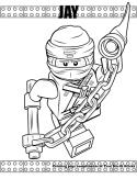 Ninja Jay coloring page