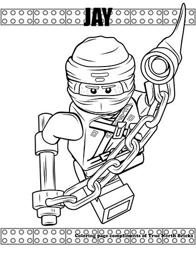 Coloring Page – Ninja Jay | True North Bricks