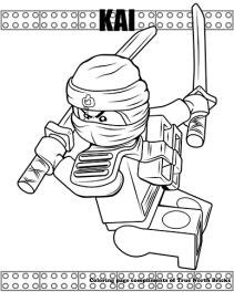 Ninja Kai coloring page
